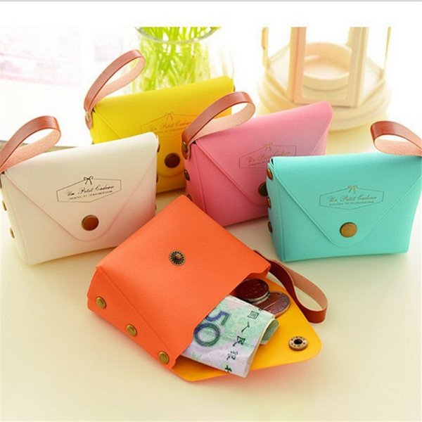 fashion women simple candy color dumpling type coin purse girl heart hand coin lock wallet storage bag (513933307) photo