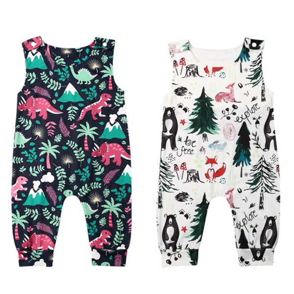 kids baby girl boy rompers sleeveless animal print romper jumpsuit overall clothes sunsuit kids clothing casual toddler jumpsuit