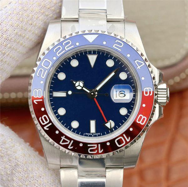 New ew gmt ma ter ii luxury watch with 2836 automatic mechanical movement luxury watch diameter 40mm men 039 watch