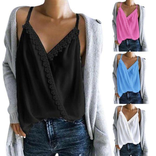 women sleeveless loose t shirts fashion ladies summer casual blouse  shirt