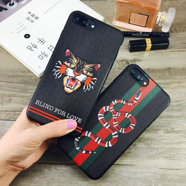 Дизайнерские Чехлы для Телефонов для IPhone XS MAX XR X XS 7 8 6 ПЛЮС Европейский Стиль Кошка Змея Крышка Животного Две Модели