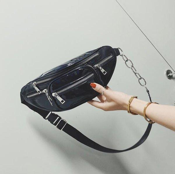 wholesale handbags purses wholesale women waist bag pu new fashion crossbody bag laser shoulder bags (546344601) photo