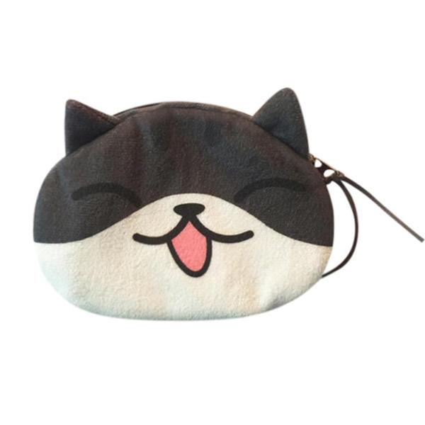 sleeper #5001 women cute print cat face girl plush coin purse change purse bag wallet ing (481732047) photo