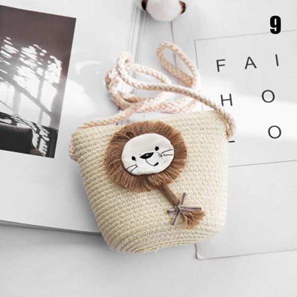 children straw woven bags cartoon girl purse summer beach handbags shoulder crossbody bags k-best (528128258) photo