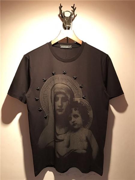 2018 New Fashion Glue pentagram The virgin printing t-Shirt men cotton short sleeves Casual male t shirt t shirts men tops tees
