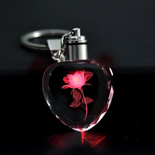 Изготовленный на заказ логотип Кристалл брелок персонализированные фото кулон изображение брелок брелок лазерная гравировка светодиодный свет брелок уникальный подарок фото