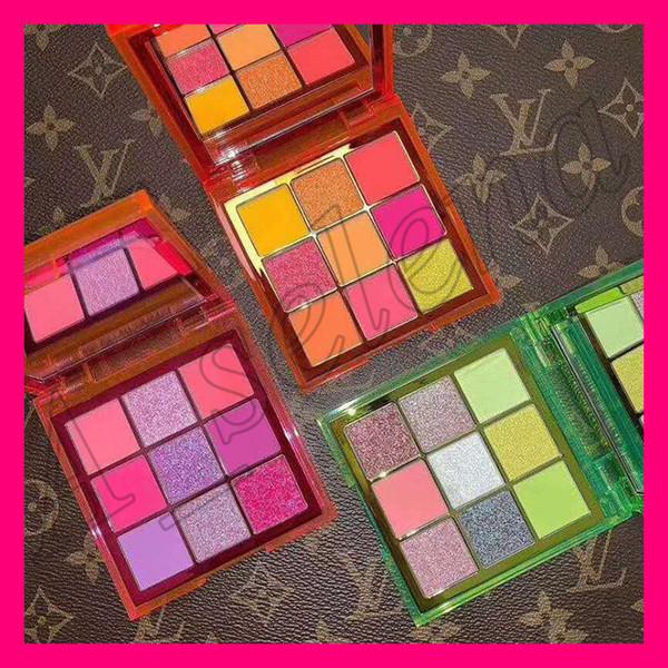 2019 new beauty eye makeup beauty neon pink orange green eye hadow palette ob e ion 9 color himmer hinning matte eye hadow by epacket