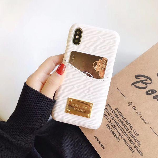 Роскошный дизайнер восемь цветов плагин карты телефона Чехол для iPhone 6 6s 7 8 8plus для фото