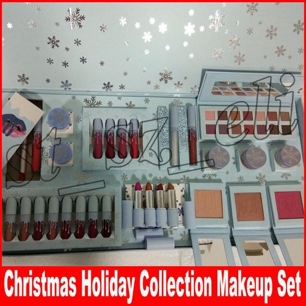 Рождественский праздник коллекция Kristmas макияж набор теней для век Крем ребенок это холодно снаружи lipkit холод детские помады выделить румяна