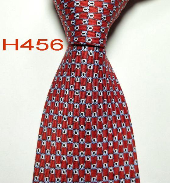H456 #100% Шелковый жаккардовый тканый галстук ручной работы мужской галстук фото