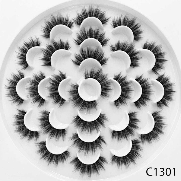 13 пар 3D ресницы из искусственной норки натуральные длинные накладные ресницы объ фото