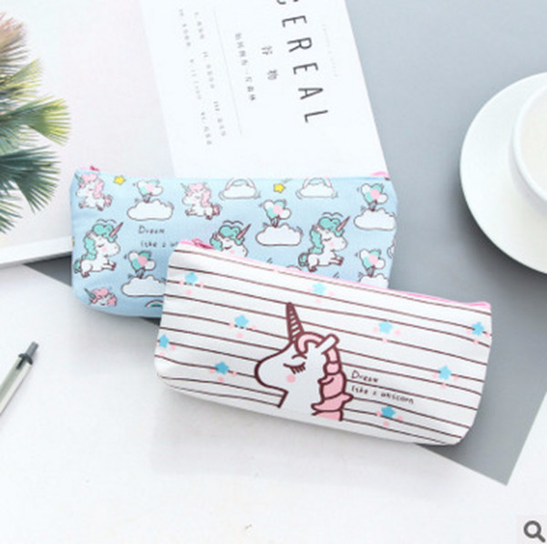 m163 small fresh and lovely cartoon unicorn canvas pencils students coin purses wholesale (480118759) photo