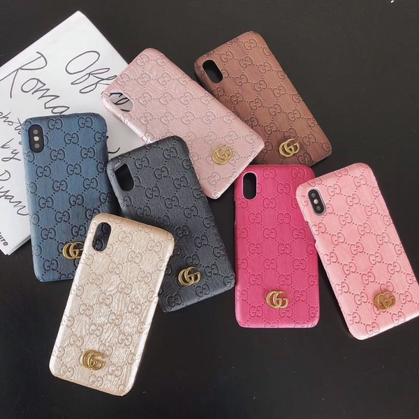 Luxury de igner pattern phone ca e for iphone x x  max xr 6 6  7 8 plu  fa hion hard back cover pu leather  hipping dhl