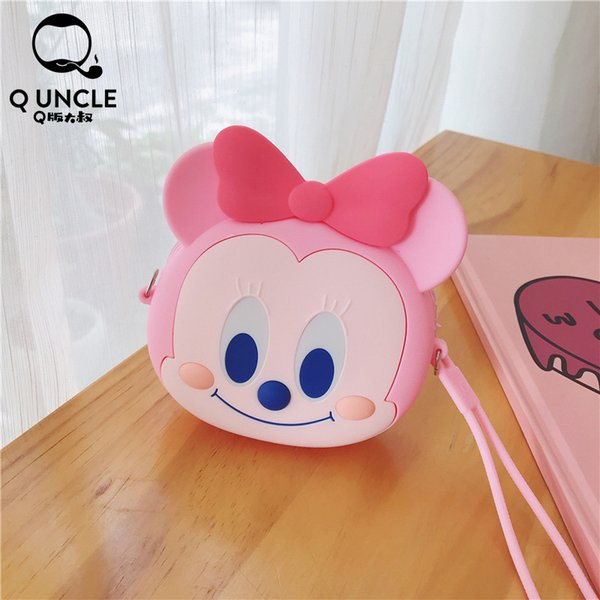 q tio bonito carteira rosa coin baby girl purse mini bolsas coin purse cadeia bandoleira sacos baby girl zipper bolsa waterproof (496343716) photo