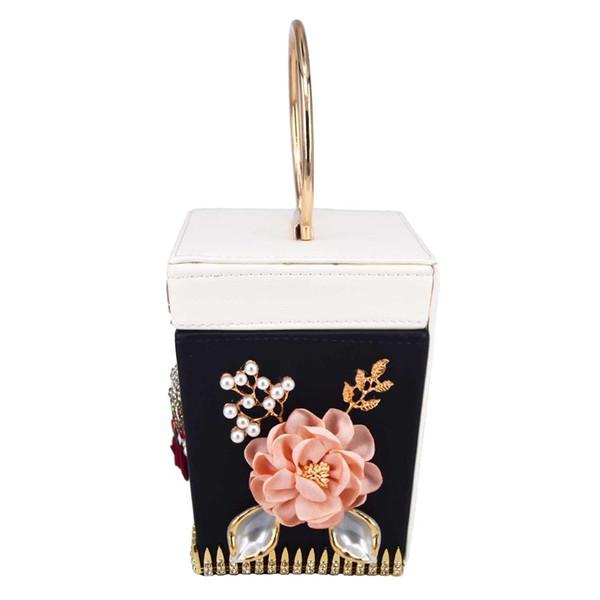 retro pu rectangle box wristlets tote clutch bag bridal purse wedding clutches chainshoulder handbag purse (491752329) photo