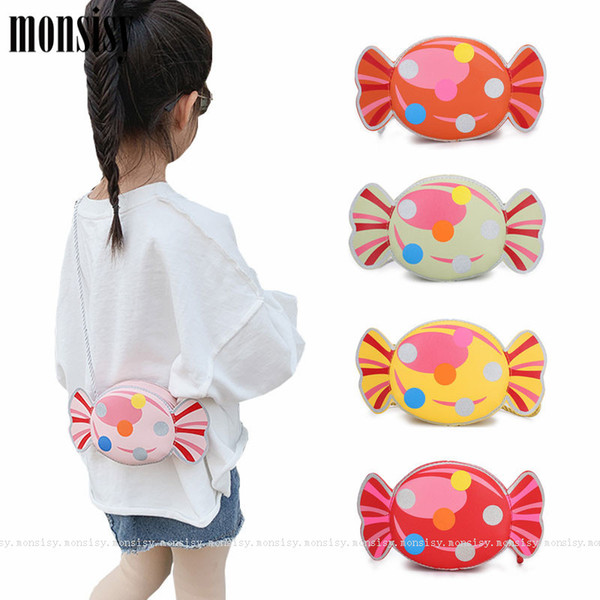 monsisy lolita girl purse and handbag children wallet kid coin pouch small change purse cute baby pu candy corss body bag gift (545390093) photo