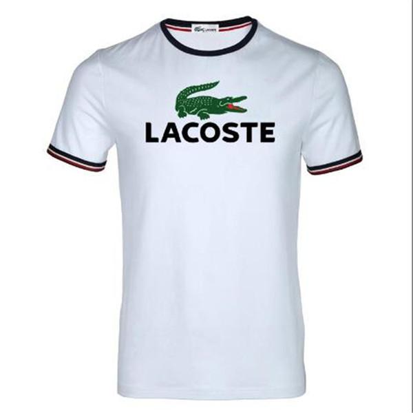 Summer T Shirts Men Tops Fashion Short Sleeve Men Round Neck Cotton Camouflage Shirt T Shirts New Arrival la̴coste