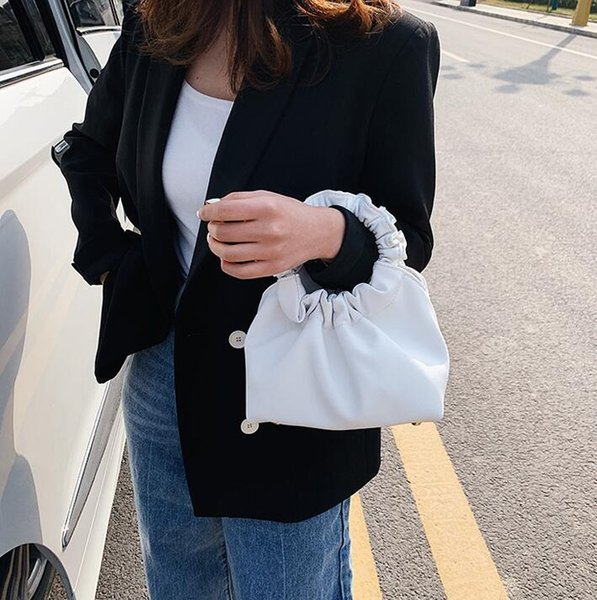 designer luxury handbags purses ladies clouds bags fashion girl shoulder bags cross-body plain ruched wrist bag (539599451) photo