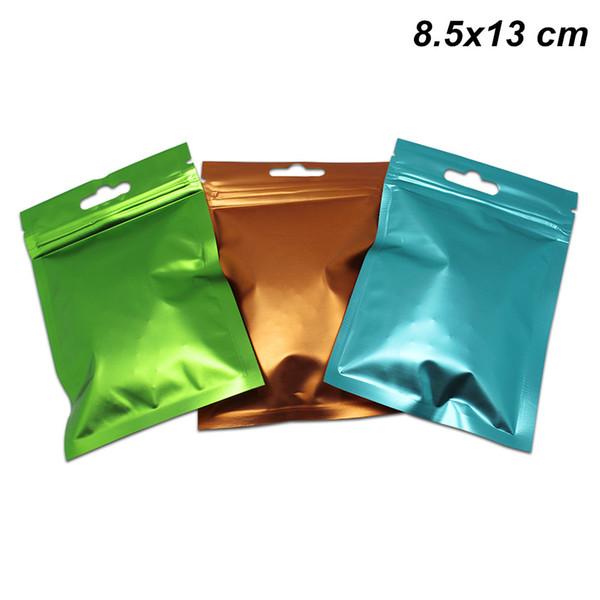 3 цвета 8. 5x13 см молния алюминиевая фольга передняя прозрачная еда долгосрочная су фото