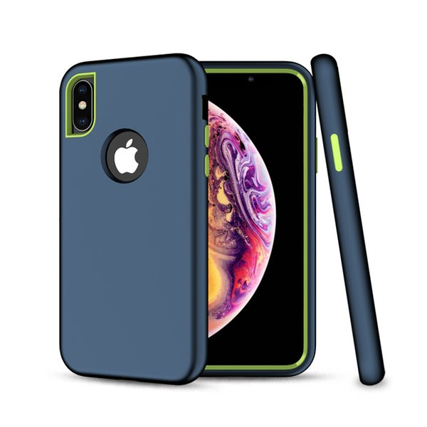 3 in 1  ilicone pc heavy duty armor rugged dual layer hybrid  hockproof ca e for iphone x xr x  max 7 8 plu