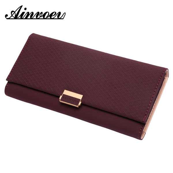 ainvoev woman wallet plaid wallet zipper female ladies change women luxury holder coin purses for girl cartera mujer (493061273) photo