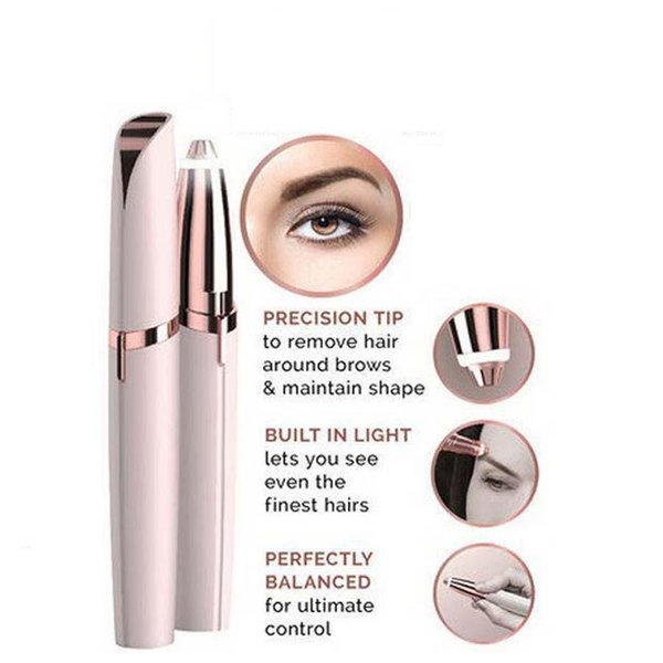 Lip tick hair remover electric eyebrow epilator haver painle portable face care hair removal eye brow trimmer tool with retail box