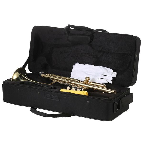 Новая начальный Paint Gold Drop B Регулируемая Bb труба с мундштуком Case Kit для ученическог