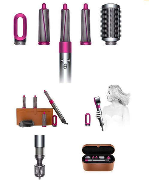 DYSON AIRWRAP COMPLETE STYLER HAIR STYLING SET PRE STYLING DRYER 4 CURLING BARRELS 2 SMOOTHING BRUSHES AND VOLUMIZING BRUSH OUTLET