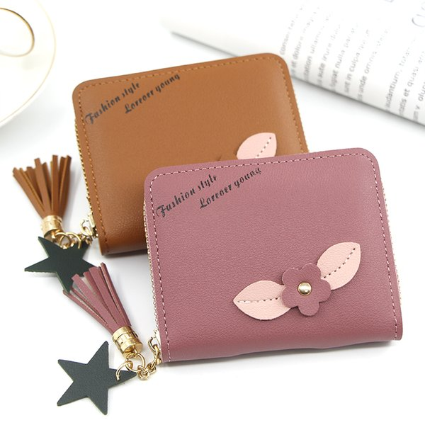 short women's purse women's handbag embroidered purse with zipper little girl's change bag card holder (535497066) photo