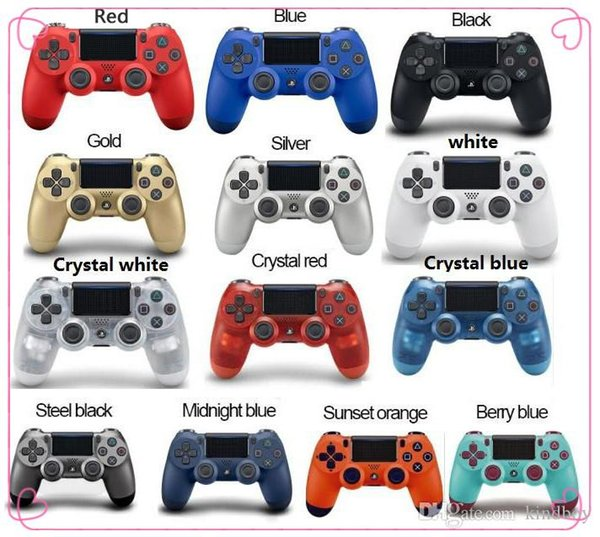 Bluetooth p 4 wirele   controller for p 4 vibration joy tick gamepad p 4 game controller for  ony play  tation with retail box