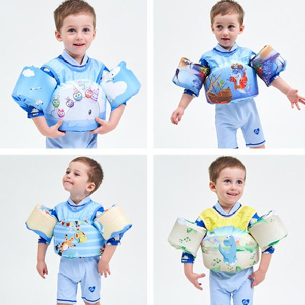 kids baby life vest dinosaur crab frog swimming boys girls superhero swimming circle rings puddle jumper lifevest