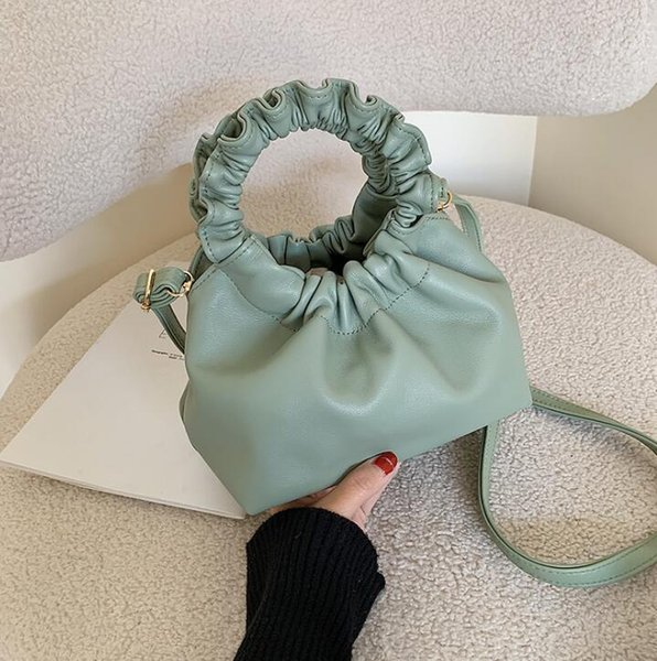 designer luxury handbags purses ladies clouds bags fashion girl shoulder bags cross body plain ruched wrist bag (539441132) photo
