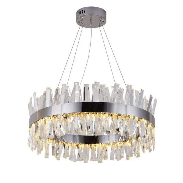 Современная хрустальная люстра для гостиной Золотые / хромированные светодиодны фото
