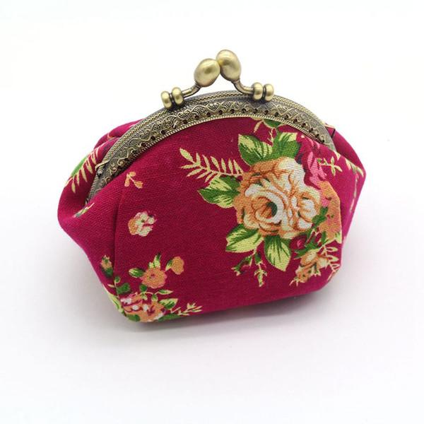 portefeuille, portefeuille vintage lady vintage flower mini purse wallet clutch (480498220) photo
