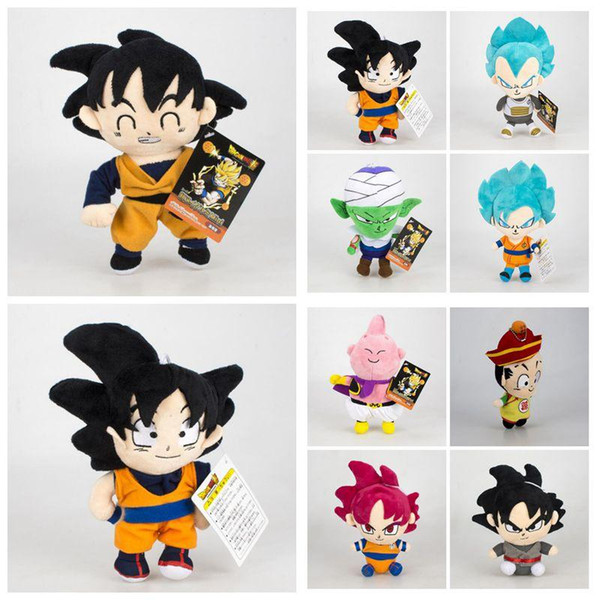 12 tyle 16 20cm dragon ball z plu h toy cartoon kuririn vegeta goku gohan piccolo beeru tuffed doll kid gift cca11353 20pc