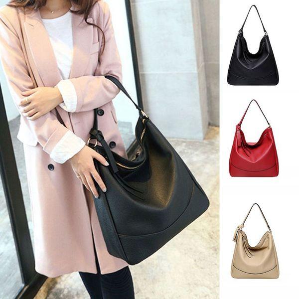 2019 vintage handbag lady shoulder bag tote purse pu leather women messenger hobo tote purse bags (503736572) photo