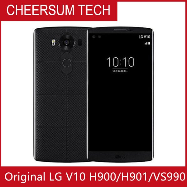 Original unlocked lg v10 h901 f600 5 7 quot  4gb ram 64gb rom  napdragon 808 3 camera  android 5 1 refurbi hed mobile phone