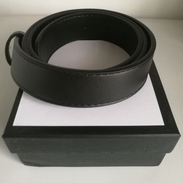 Fashion designer Belts men high quality cowhide leather Belt metal smooth buckle solid jeans belts for women with box