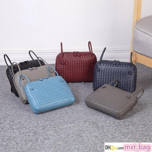 designer crossbody bag designer luxury handbags purses shoulder bag leather pure weave hand woven weaving handmade knitting style bag bags (511173294) photo