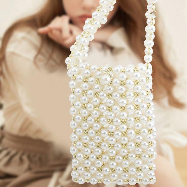 imitation pearl beaded evening bag women handbag purse shoulder crossbody bag k-best (528852368) photo