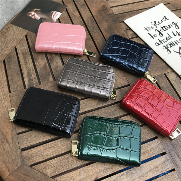buy women's wallet leather small wallet leather cowhide zipper purse key bag t25z (534472144) photo