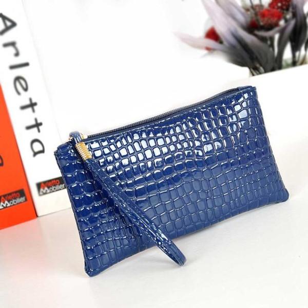 Women Wallet Purse Handbag Womens Crocodile PU Leather Clutch Handbag Bag Coin Purse Crocodile Clutch Bag Women