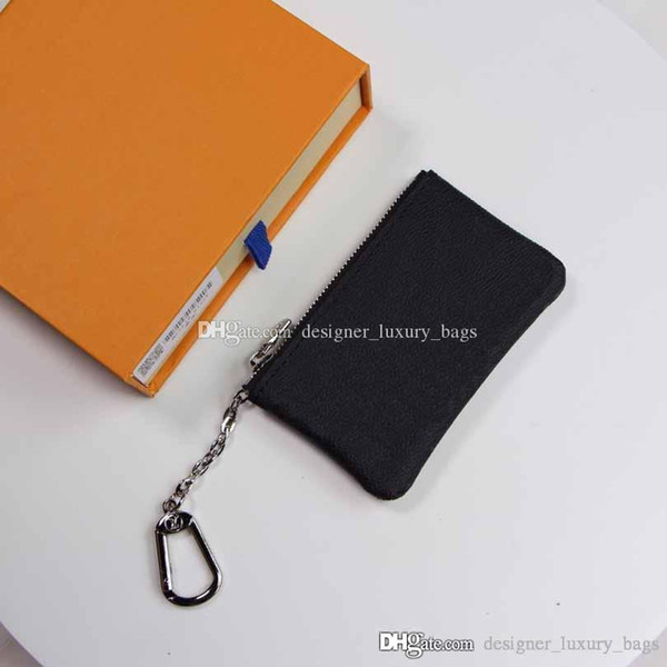 designer brand luxury coin purse mens womens pvc+ leather coin purse key bag classic print mini wallet (492371059) photo