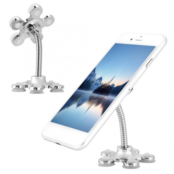Rotatable metal magic  uction cup mobile phone holder flower  hape cellphone mount   tander car bracket for ipad iphone  am ung  martphone