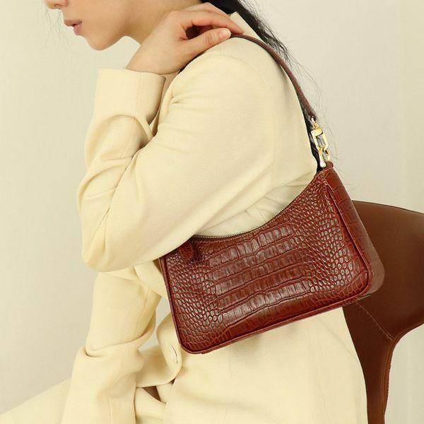 2020 newset luxury handbags women bags designer vintage alligator women's handbags female shoulder bags girls leather purses (541978124) photo