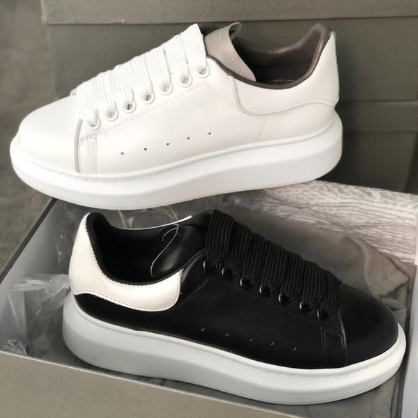 Дизайнерские туфли на платформе Кроссовки Мужские кроссовки Белые кожаные замше