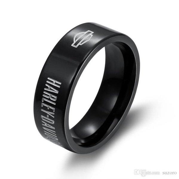 Модные мужские и женские высокого качества из нержавеющей стали кожаные кольца, творческие кожаные кольца, черные кожаные кольца фото