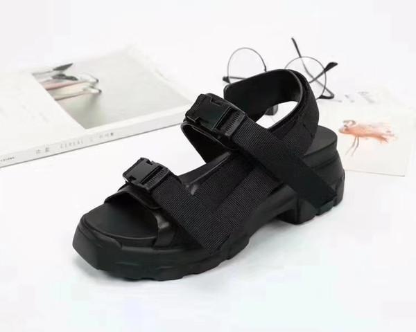 новый дизайнер толстые Женские сандалии из натуральной кожи черный желтый 3colors us5