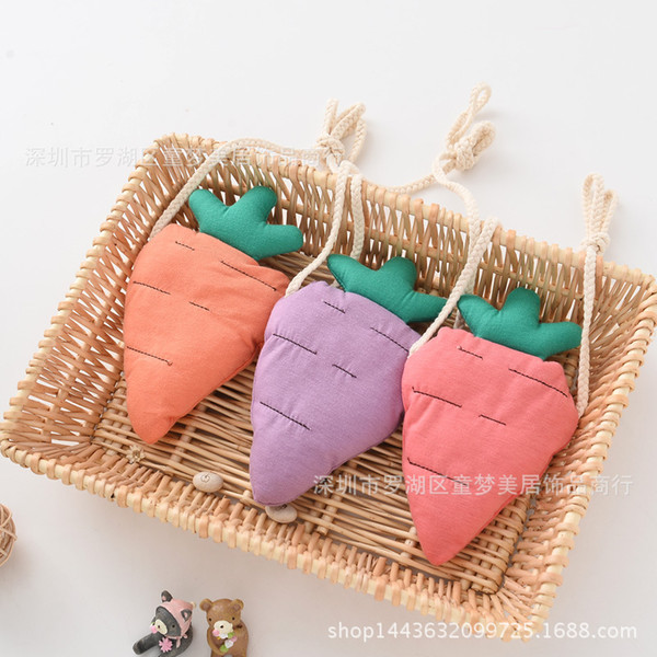 wholesale carrot purse children & vegetable fabric purse little girl crush creative fashion key bag (524805566) photo
