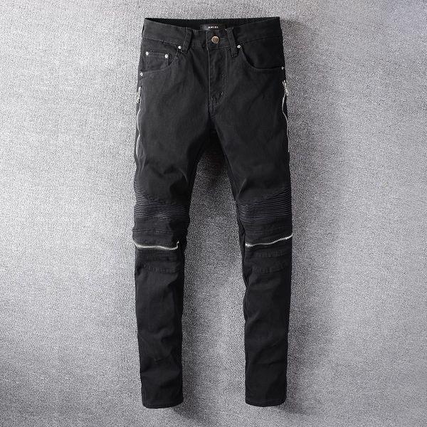 2020 Лучшие качества Amirl Jeans # 627 Известный дизайнер бренда Luxury Jeans Men Fashion Street Wear Мужские джинсы Байкер Man Популярные Брюки Hip Hop фото
